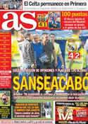 Portada diario AS del 2 de Junio de 2013