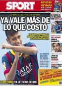 Portada diario Sport del 5 de Junio de 2013