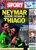 Portada diario Sport del 6 de Junio de 2013