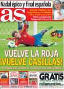 Portada diario AS del 8 de Junio de 2013