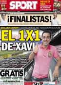 Portada diario Sport del 8 de Junio de 2013