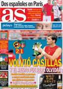 Portada diario AS del 9 de Junio de 2013