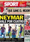 Portada diario Sport del 9 de Junio de 2013