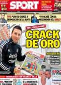 Portada diario Sport del 11 de Junio de 2013