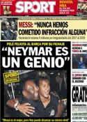 Portada diario Sport del 13 de Junio de 2013