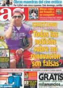 Portada diario AS del 14 de Junio de 2013