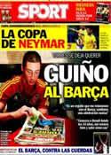 Portada diario Sport del 15 de Junio de 2013
