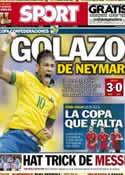 Portada diario Sport del 16 de Junio de 2013