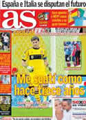 Portada diario AS del 18 de Junio de 2013