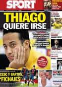 Portada diario Sport del 18 de Junio de 2013