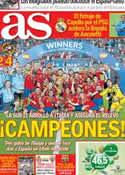 Portada diario AS del 19 de Junio de 2013