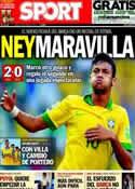 Portada diario Sport del 20 de Junio de 2013