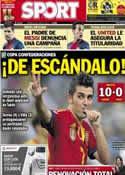 Portada diario Sport del 21 de Junio de 2013