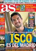 Portada diario AS del 22 de Junio de 2013