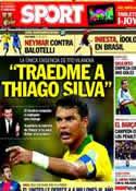 Portada diario Sport del 22 de Junio de 2013