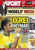 Portada diario Sport del 23 de Junio de 2013