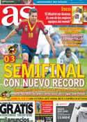 Portada diario AS del 24 de Junio de 2013
