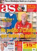 Portada diario AS del 25 de Junio de 2013