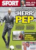 Portada diario Sport del 25 de Junio de 2013