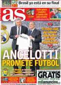 Portada diario AS del 27 de Junio de 2013
