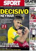 Portada diario Sport del 27 de Junio de 2013