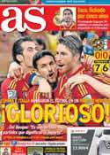 Portada diario AS del 28 de Junio de 2013