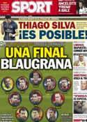 Portada diario Sport del 29 de Junio de 2013