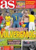 Portada diario AS del 1 de Julio de 2013