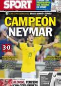 Portada diario Sport del 1 de Julio de 2013