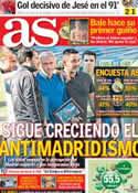 Portada diario AS del 3 de Julio de 2013