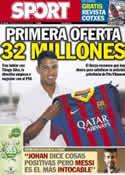 Portada diario Sport del 3 de Julio de 2013