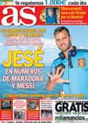 Portada diario AS del 5 de Julio de 2013