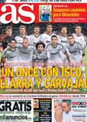 Portada diario AS del 8 de Julio de 2013