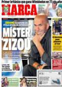 Portada diario Marca del 8 de Julio de 2013
