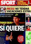 Portada diario Sport del 10 de Julio de 2013