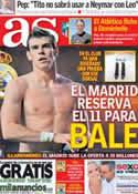 Portada diario AS del 11 de Julio de 2013