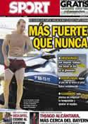 Portada diario Sport del 11 de Julio de 2013