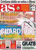 Portada diario AS del 12 de Julio de 2013