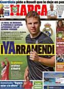 Portada diario Marca del 12 de Julio de 2013