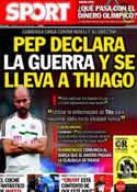Portada diario Sport del 12 de Julio de 2013