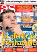 Portada diario AS del 13 de Julio de 2013