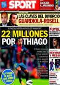 Portada diario Sport del 13 de Julio de 2013