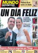 Portada Mundo Deportivo del 14 de Julio de 2013