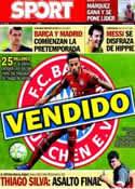 Portada diario Sport del 15 de Julio de 2013