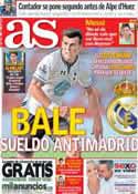 Portada diario AS del 18 de Julio de 2013