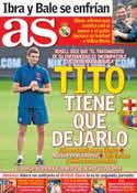 Portada diario AS del 20 de Julio de 2013