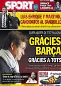 Portada diario Sport del 21 de Julio de 2013
