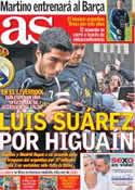 Portada diario AS del 23 de Julio de 2013
