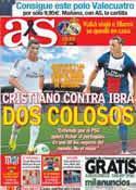 Portada diario AS del 27 de Julio de 2013