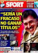 Portada diario Sport del 27 de Julio de 2013